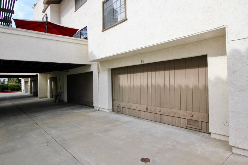 White color walls with nice car parking at the basement in Mission Point Townhomes.