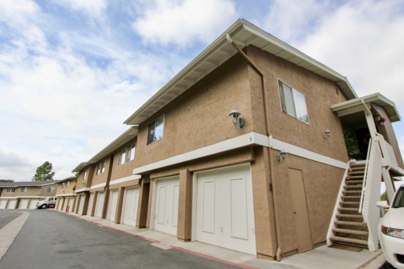 Tan above garage apartments in mission view Oceanside California