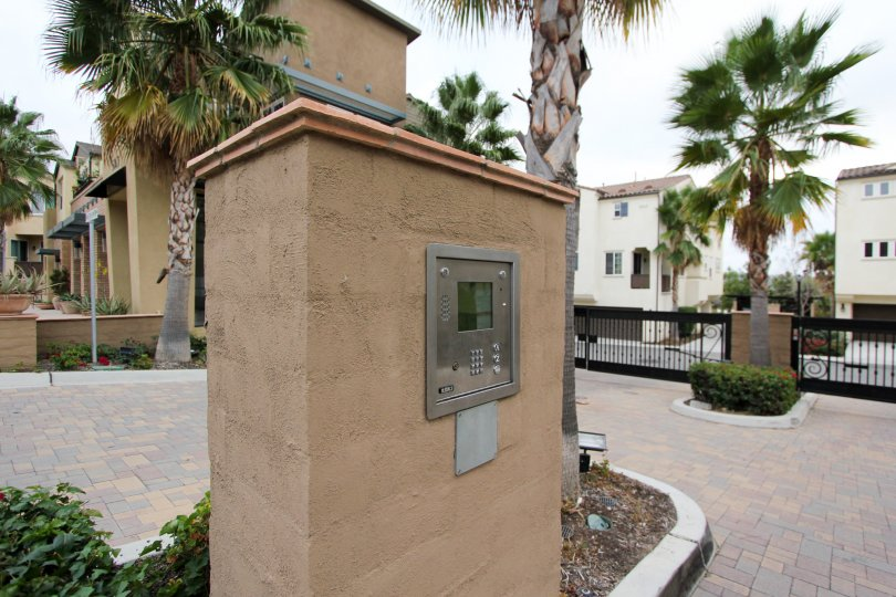 Oceanside California call box in the community of North River Village