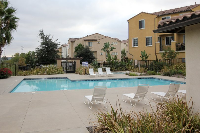 Enjoy beautifully sunny days at the pool at North River Village.