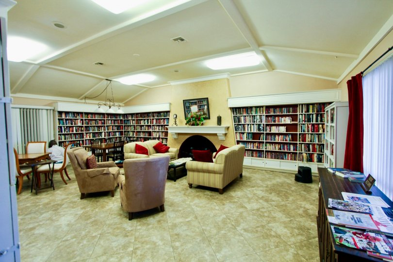 Oceana in Oceanside California: Library and Resident Center