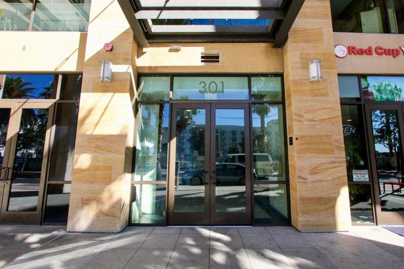 Entrance to 301 in Oceanside Terrace Oceanside California
