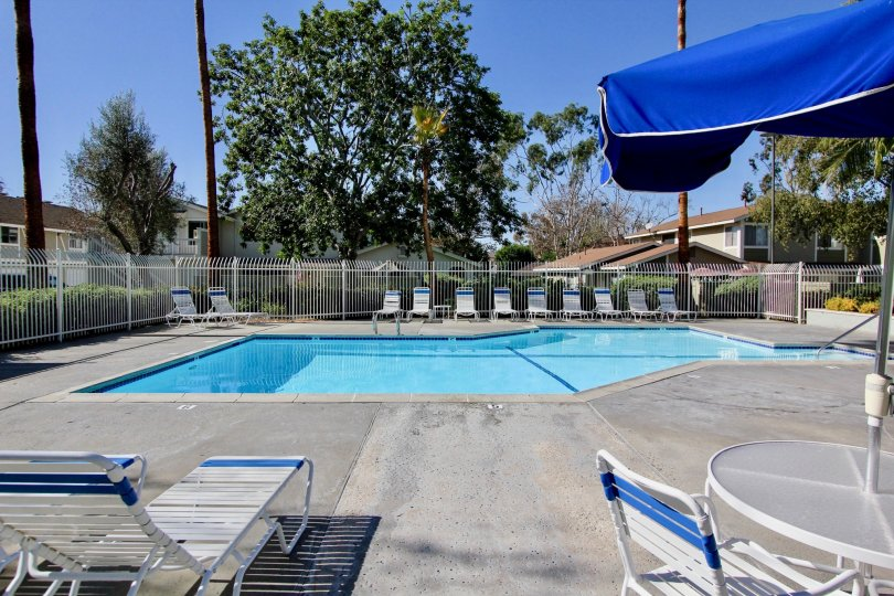 Park Circle Community, Oceanside, California, Outdoor Pool and Patio