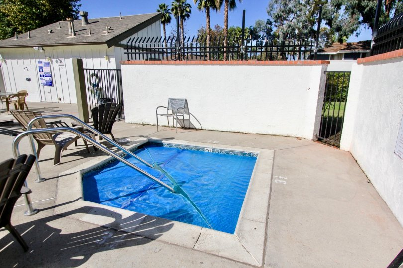 Sit by the pool and stare at the palm trees in this Oceanside town