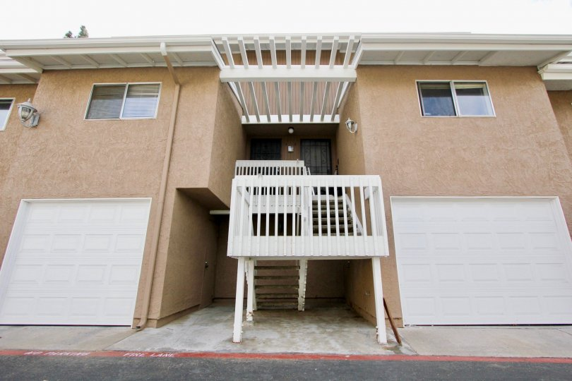 Quail Ridge Community, Oceanside, California, Garages, Back Entrance