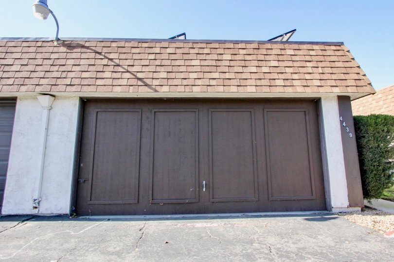 Brown garage door in Riverside community in Oceanside, CA