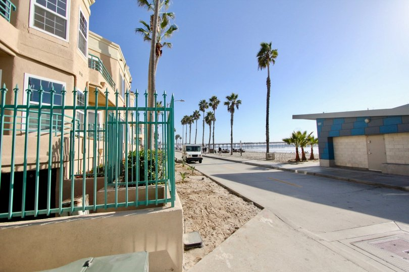 A beautiful clear day along the seaside of San Miguel III in Oceanside, California.