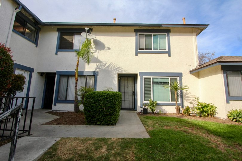 Two story home with a yard in Oceanside CA at the Seabreeze community