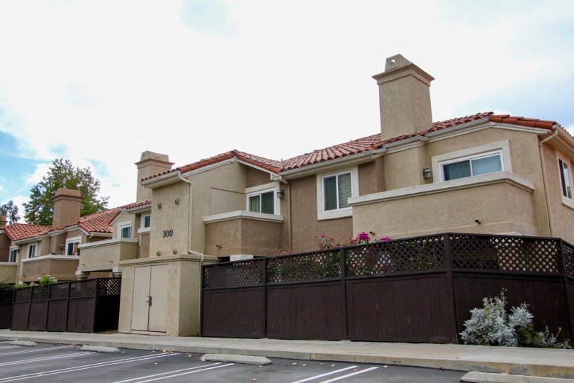 Two story brown town homes in Oceanside CA at The Bluffs
