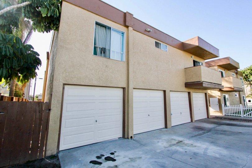 Plenty of garage space at Tremont in Oceanside, California.