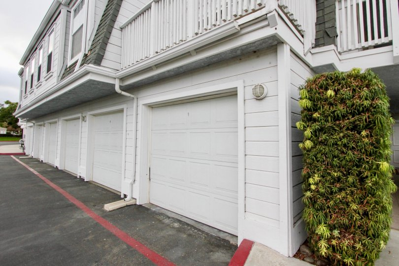 Conveniently attached garages at Villa San Luis Rey in Oceanside, California