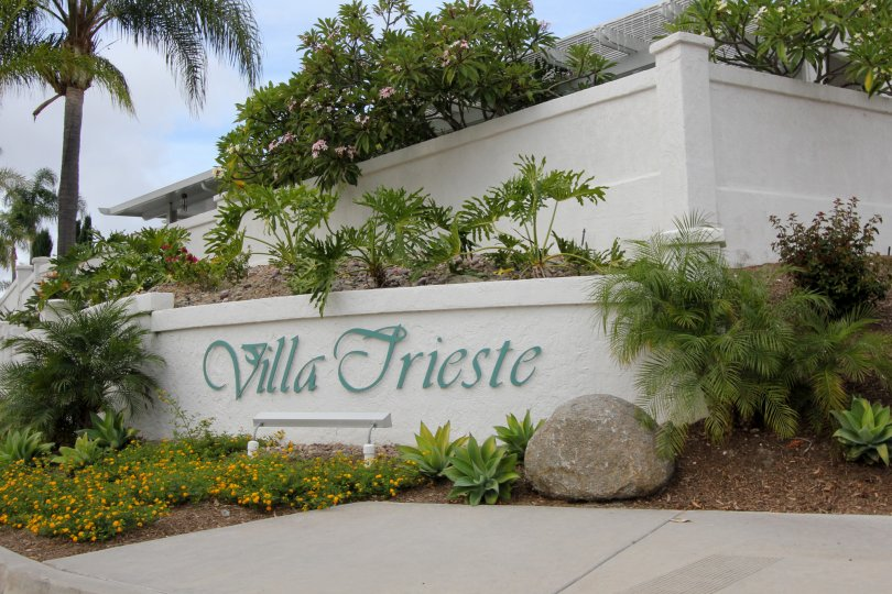 The Villa Trieste entrance to the complex in Oceanside CA