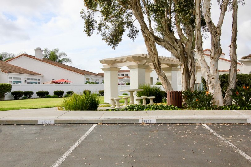 The Villa Trieste in Oceanside, California is surrounded by a beautiful landscape.
