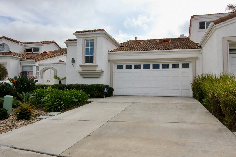 View from driveway in Villa Trieste community in Oceanside, CA