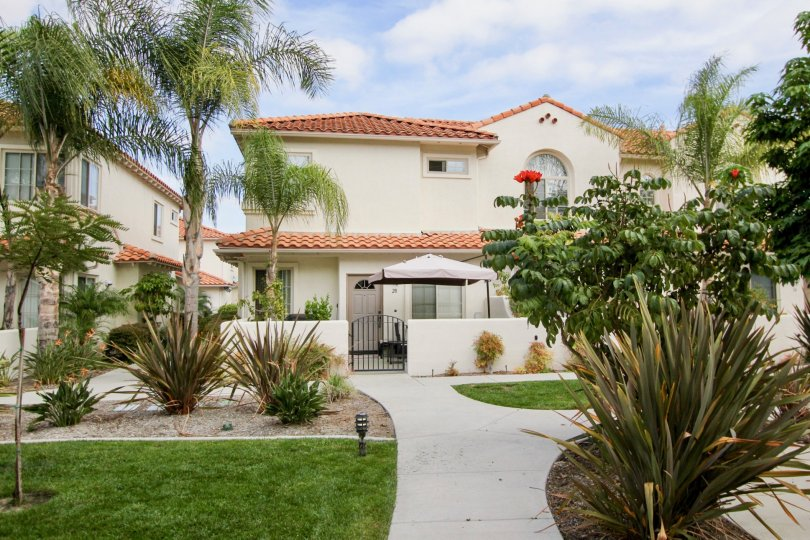 Mission Point Villas with wonderful garden landscape at Oceanside, CA