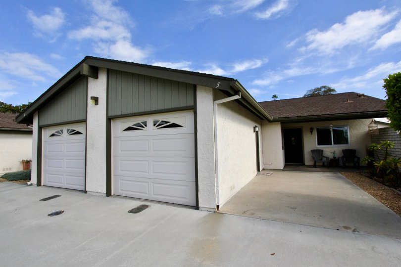 Garages and driveways in the Vista de Oceana community in Oceanside, CA