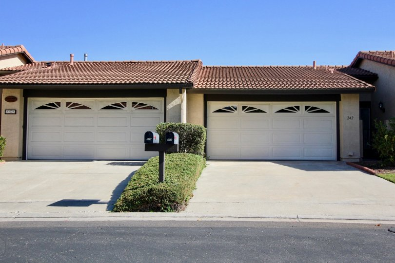 The Vista Montana Apartments, Oceanside, California, Driveway with Garages