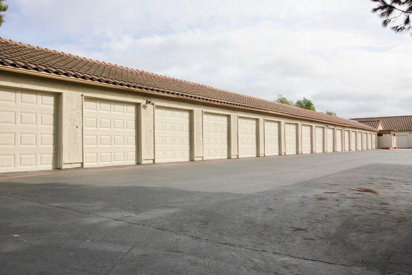 A closed garage or storage warehouse in Vista Way Village
