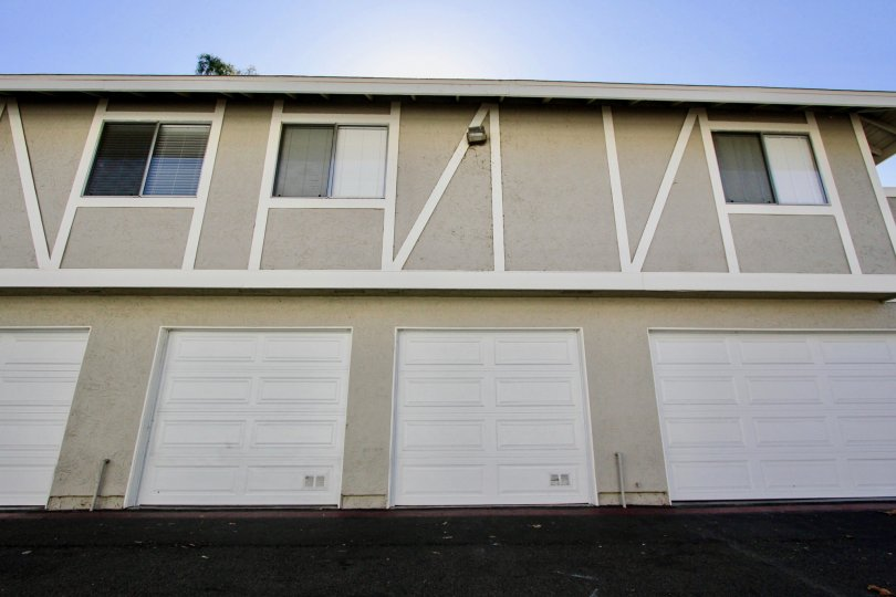 Two Storey attached homes with ground floor garages in the community of Whelan Ranch, Oceanside, CA