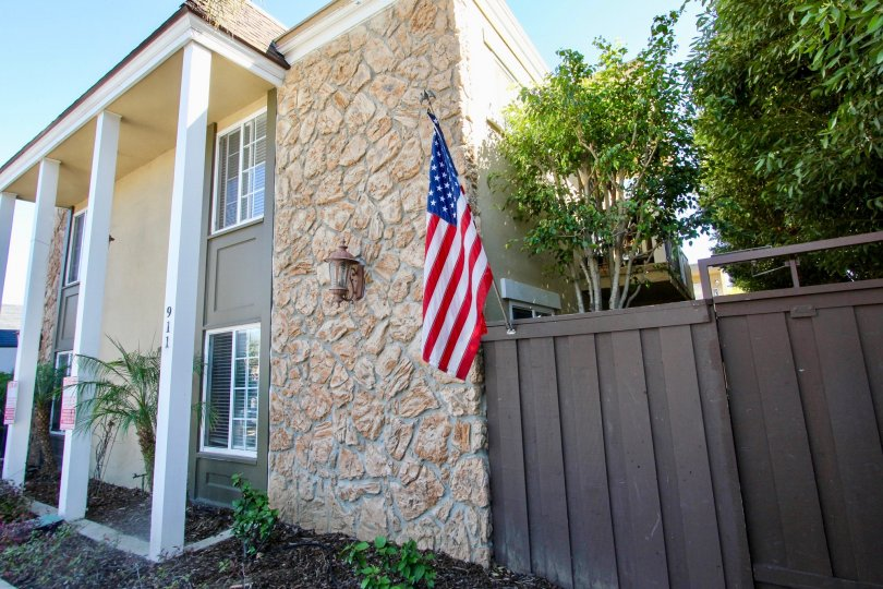Beautiful Villa showing USA Flag with trees beside in 911 Missouri of Pacific Beach