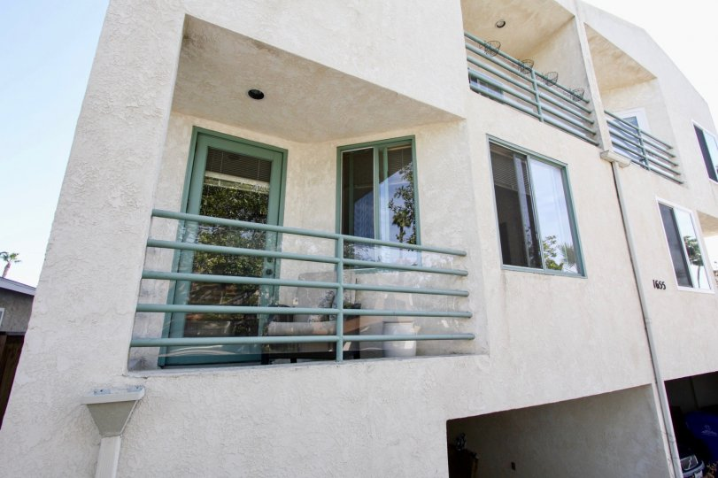 A balcony side view of the Chalcedony Townhomes housing community
