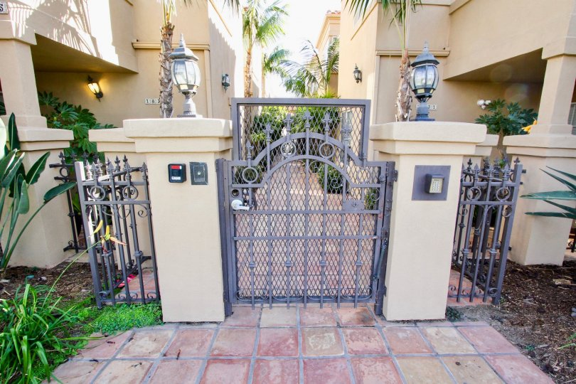 Elegant gated walkway at Missouri Street Condos in Pacific Beach