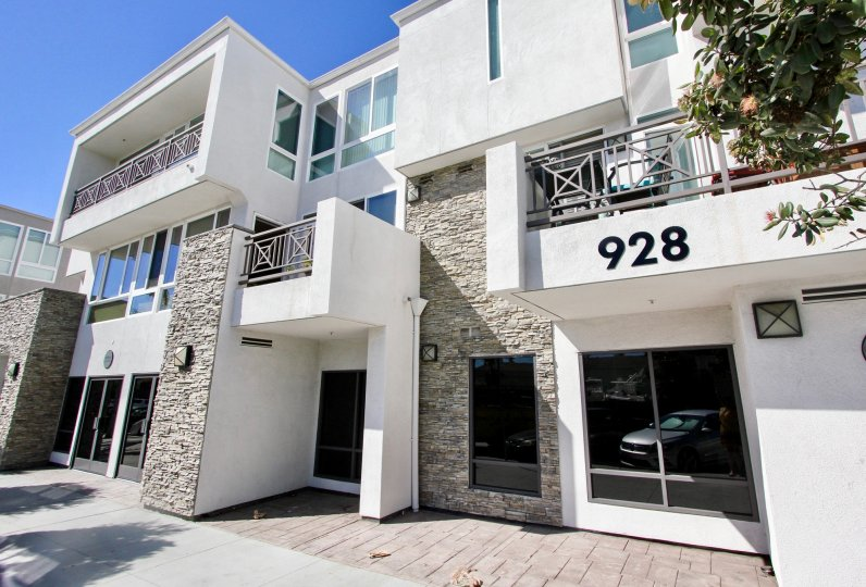 Sleek, modern apartment in the Pacific Beach Sands community of Pacific Beach, California.