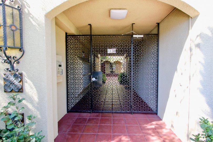 Portofino Entry with Security Gate and Call Box Pacific Beach California