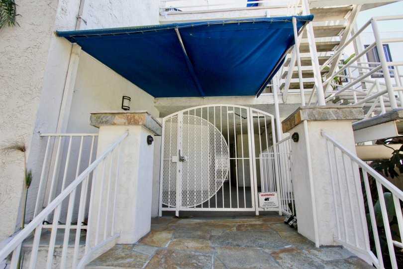 Santa Mariana Blue Awning and Gated Entry Pacific Beach California