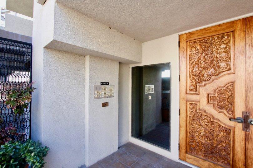 Beautiful colorful doors in the Santa Susanna community