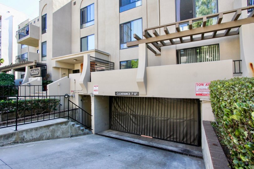 Multi-story apartment complex with private underground garage and private decks in Pacific Beach, California