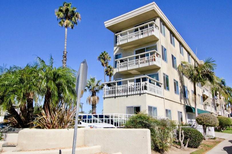 The Shores at Crown Four-Story Creme Building Pacific Beach California