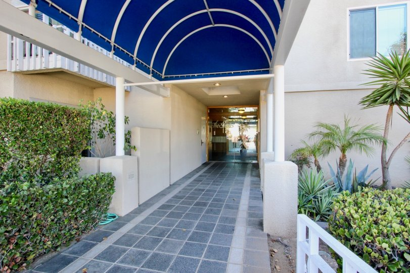 Excellent Entrance view of a House with Garden in The Shores at Crown Point of Pacific Beach