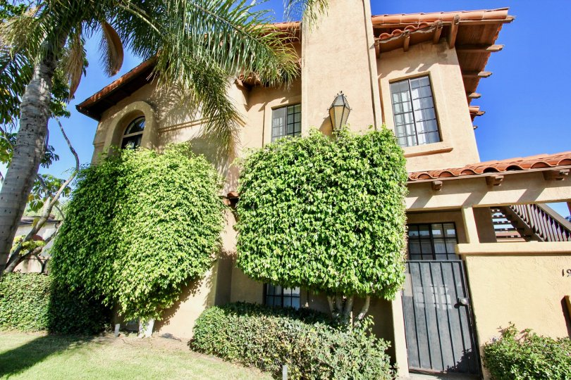 THE FLAT IN THE VISTA ADELLE MAR WITH THE DECORATIVE PLANTS, GATE, UPSTAIRS, GRASS