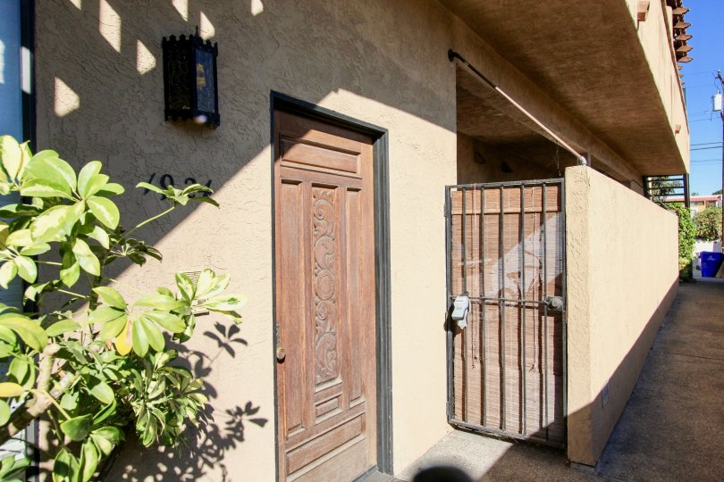 A Bright Sunny day with front gate and door of a villa in Vista Adelle Mar of Pacific Beach