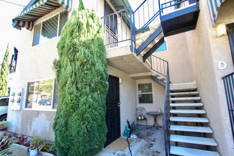 oliphant condo stairway in point loma california, apartment D view