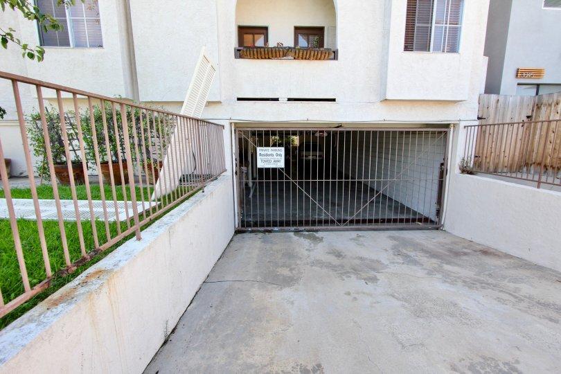 California Point Loma Primrose Villas Underground Parking Garage