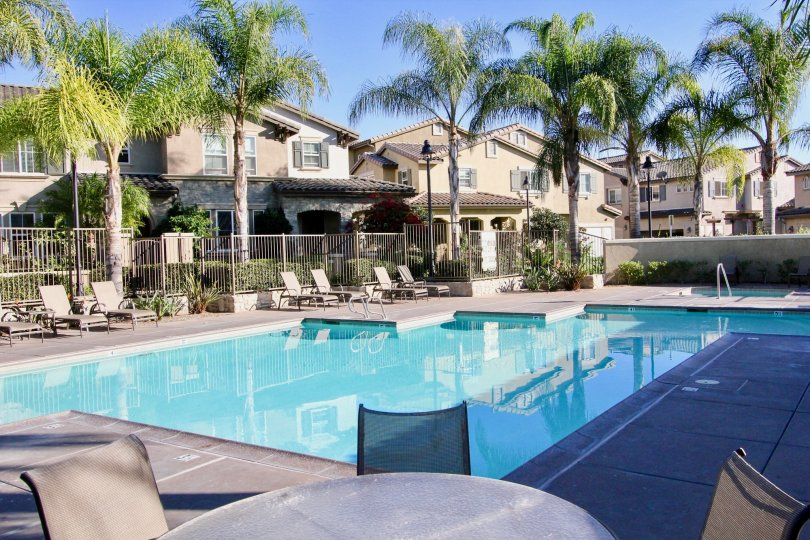 Enjoy a break by the poolside in the Amante Ravenna in Rancho Bernardo.