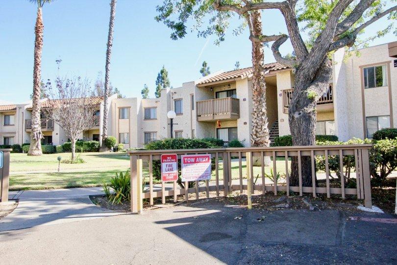 Two story housing units at Bernardo Terrace in Rancho Bernardo California