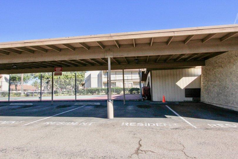 Resident parking spaces located in Bernardo Terrace