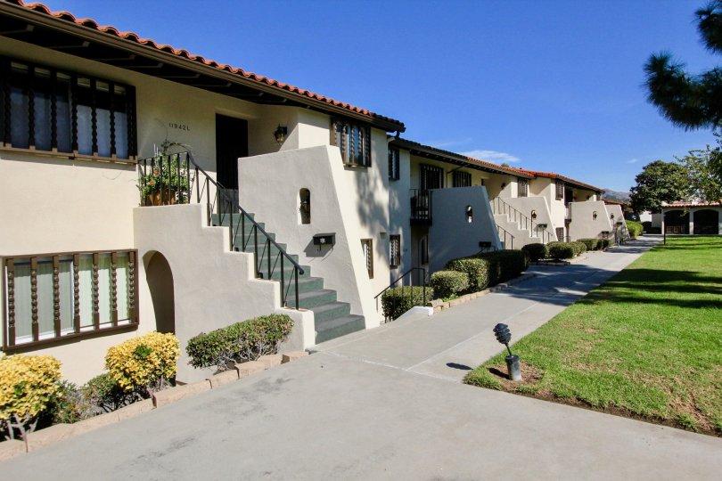 Sunny day at the Bernardo Villas in Rancho Bernardo, CA