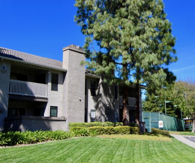 Red and brown residential units at Carmel Trails in Rancho Bernardo CA