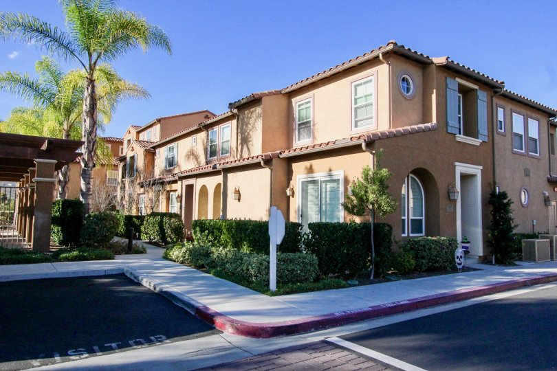 Two story brown town homes at Gianni in Rancho Bernardo CA