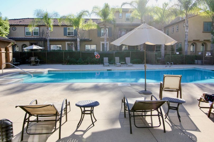 Beautiful clean pool for an apartment or condo complex
