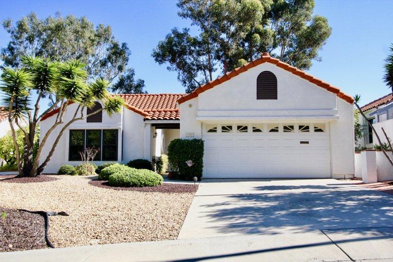 A beautiful white house in Las Brisas Community in Rachno Bernardo, California.
