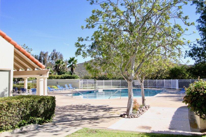 Poolside view at Las Brisas in Rancho Bernardo, California