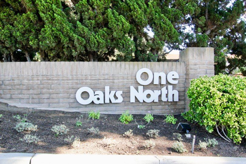 There was big board of One Oaks North outside the building area