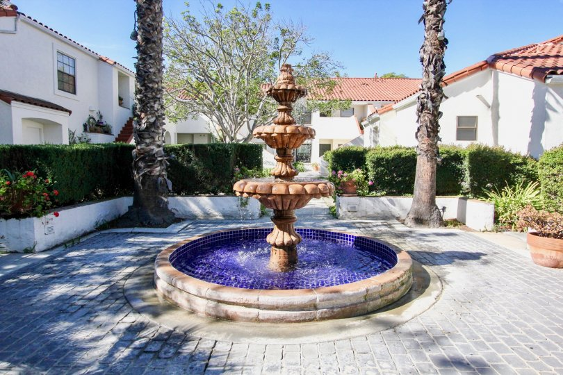 Palazzo Bernardo, City: Rancho Bernardo, beautiful fountain blue color