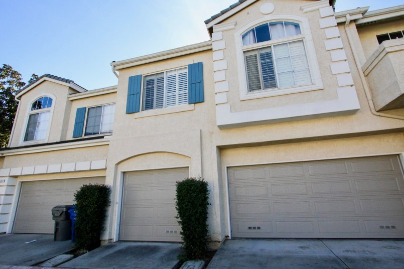 Gray garage doors on residence at Provencal in Rancho Bernardo