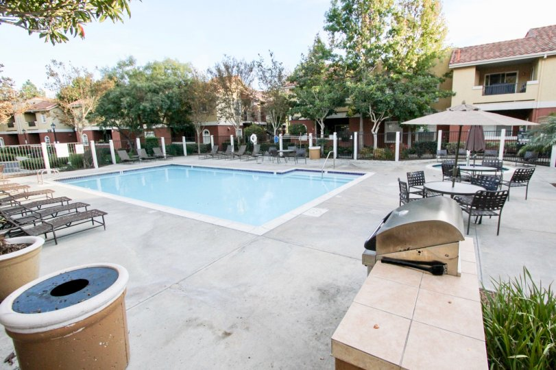 In Sabre Terrace has swimming pool, dinning tables and chairs for give relaxation to mind
